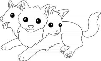 Cerberus Kids Coloring Page Great for Beginner Coloring Book vector