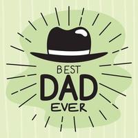 best dad ever message vector