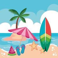 seascape summer season vector