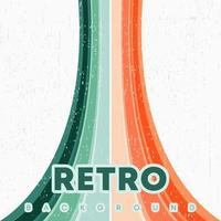 Retro design background with vintage grunge texture and colored lines Vector illustration