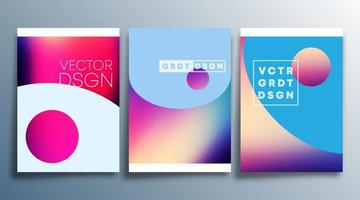 Colorful gradient texture for flyer poster brochure cover background wallpaper typography or other printing products Vector illustration