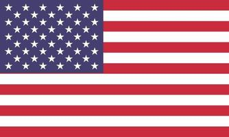 vector illustration of the united states flag