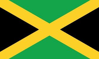 vector illustration of Jamaica flag