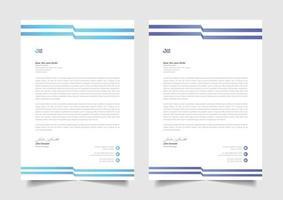 business letterhead design victor template vector