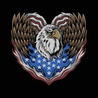 the flag of the United States eagle forms the heart of the Memorial Day and Independence Day and the Veterans Day vector