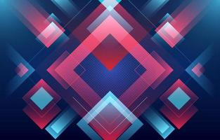 Glowing Blue and Red Squares Abstract Background vector