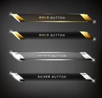 Set of web glossy buttons vector