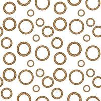 Rope circles pattern Seamless pattern with circles for design vector