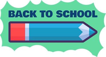 Back to school poster design template vector
