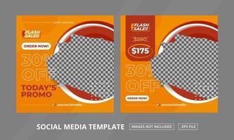 Social Media Posts Template Set vector