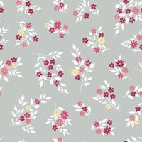 Floral seamless pattern Flower bouquet background Floral seamless texture with flowers Flourish tiled wallpaper vector