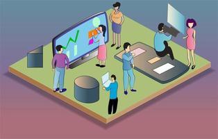 Isometric Business Activities vector