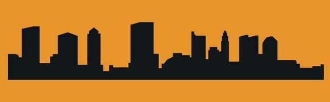 Ohio Colombus city silhouette vector