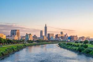 Taipei city by the river photo