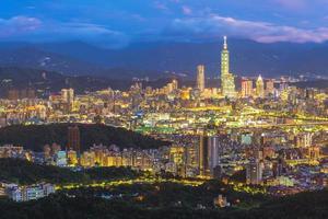 Panoramic view of Taipei city photo