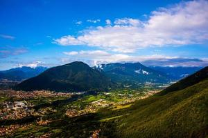 Monte Summano and clouds photo
