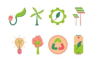 Set of Green Technology Icon vector