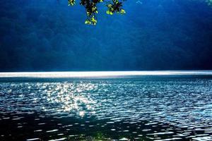 Lake Levico in Italy photo