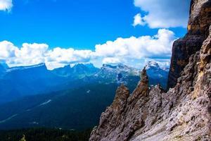 Peaks of the Dolomites of Cortina D'ampezzo in Belluno, Veneto, Italy photo