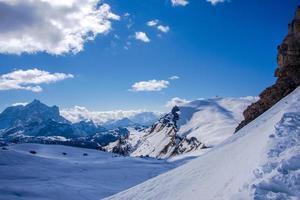 White valleys in the Dolomites photo
