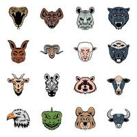 Pack of Animal Mascots vector