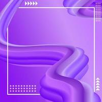 Fondo de lavanda lila de flujo líquido vibrante vector
