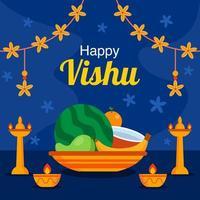 fondo de celebración del festival de vishu vector