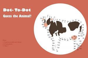 dot to dot  kids worksheet vector
