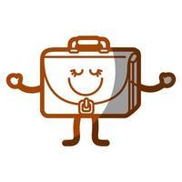 happy briefcase icon vector