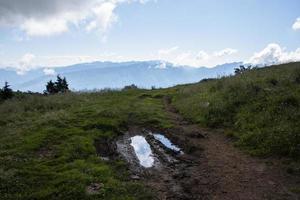 Landscape at Monte Altissimo di Nago in Trento, Italy photo