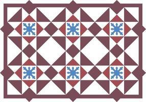 Vintage peranakan seamless pattern vector