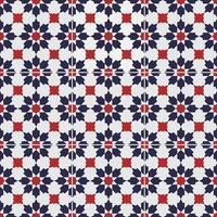 Original Peranakan Tile seamless floral pattern Malaysia vector