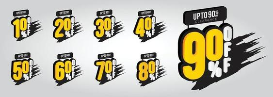 Etiquetas de venta y descuento precio de descuento ilustración de vector de plantilla