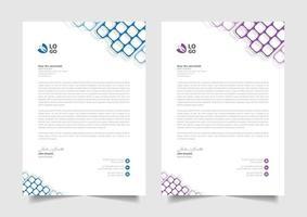 best professional letterhead design for business vector