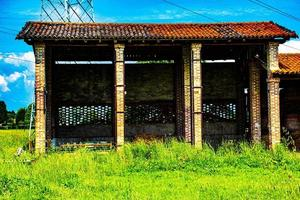 Barn and shelter for tools in the countryside around Vicenza photo