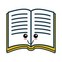 libro de dibujos animados lindo vector