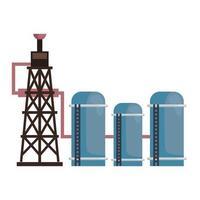 refinery petroleum industry vector