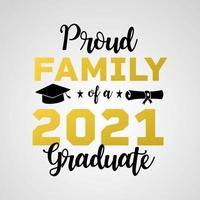 Vector illustrate design graduation 2021 logo and design for tshirt