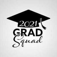 vector ilustrar el diseño del logotipo de graduación 2021 y el diseño de la camiseta