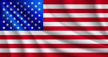 Usa flag illustration vector