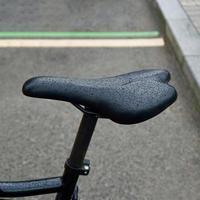 black bicycle seat photo