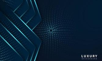 Abstract geometric navy blue abstract background with metallic blue light vector