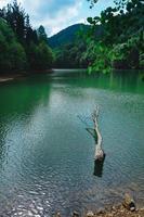 lake in the mountain photo