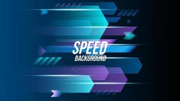 Abstract background technology high speed racing for sports of long exposure light on black background vector