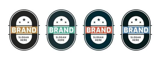 Business badge circle or round design. Vector illustration.