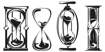 Set of different hourglasses vector