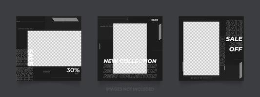 instagram post template for sale promotion vector