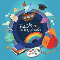 back to school banner for school day vector