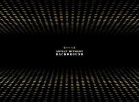 Abstract dark background gold circle shape dimension random size pattern. vector