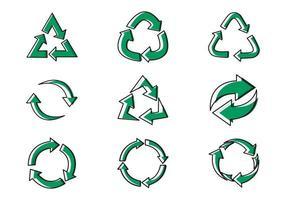 Recycle Icon Set Symbol Vector Illustration Design